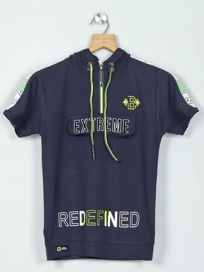 Bambini navy boys t-shirt in printed design