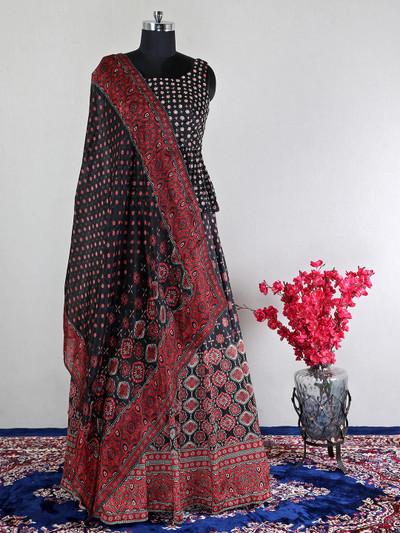 Beautiful black net wedding lehenga choli