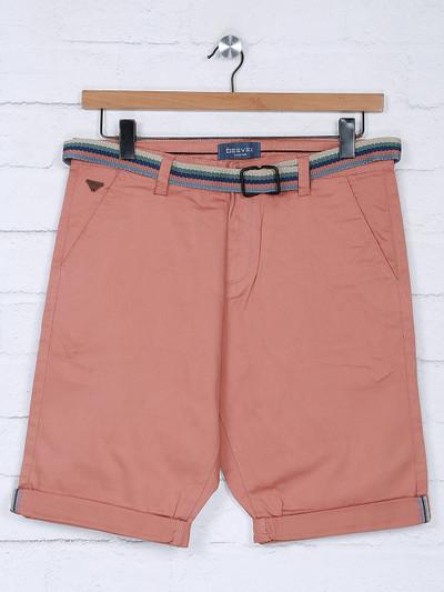 Beevee peach hue solid cotton short