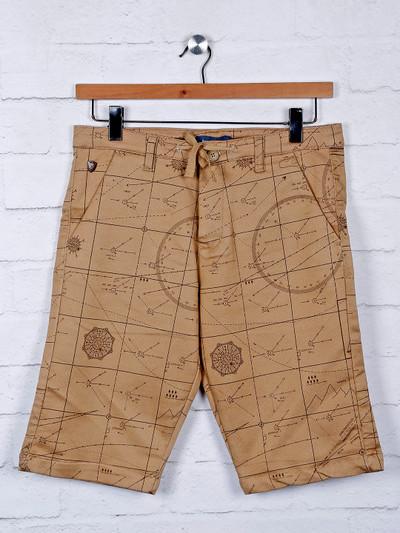 Beevee printed khaki color shorts