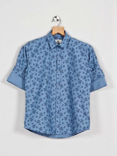 Blazo blue printed latest shirt