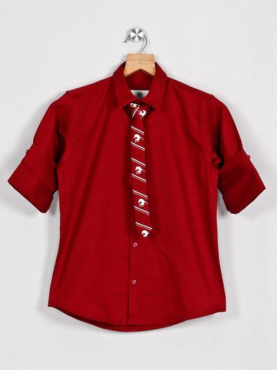 Blazo maroon casual cotton shirt