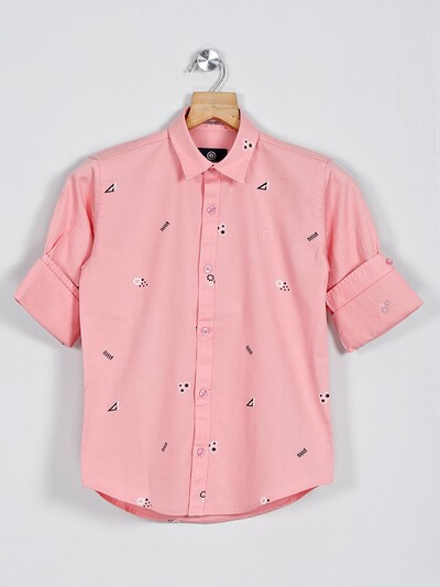 Blazo pink printed full sleeve shirt