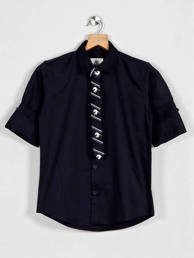 Blazo slim collar sky blue casual shirt
