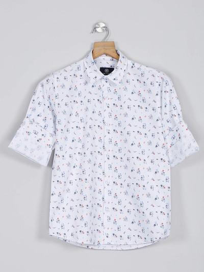 Blazo white printed latest shirt