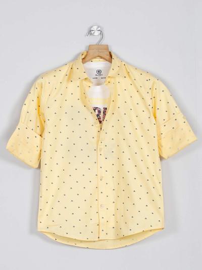 Blazo yellow printed full sleeve shirt