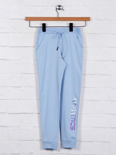 Blue cotton jeggings casual wear