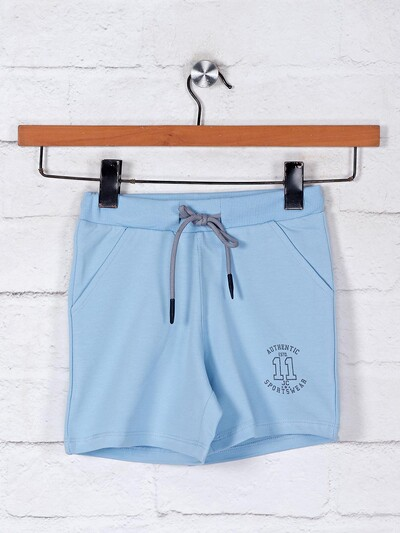 Blue shorts for girls in cotton