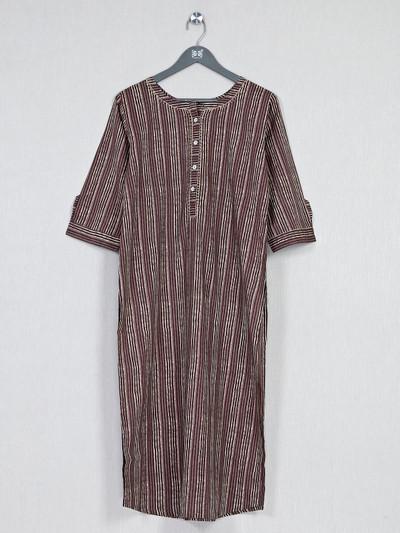 Brown printed cotton kurti for casualwear