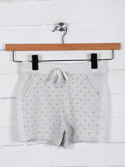 Casual cotton shorts for girls in grey