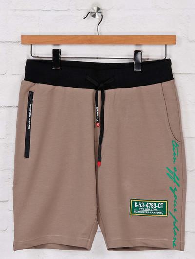 Chopstick beige shorts in cotton