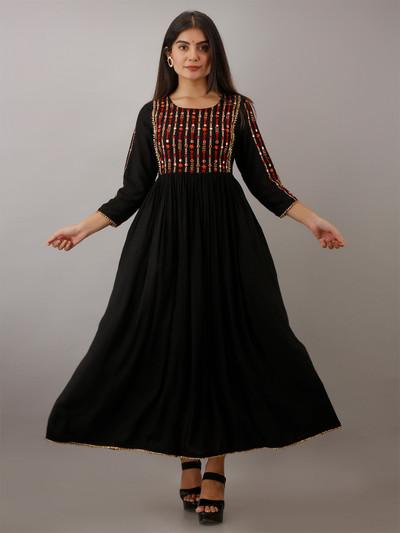 Cotton grey casual wear printed women kurti