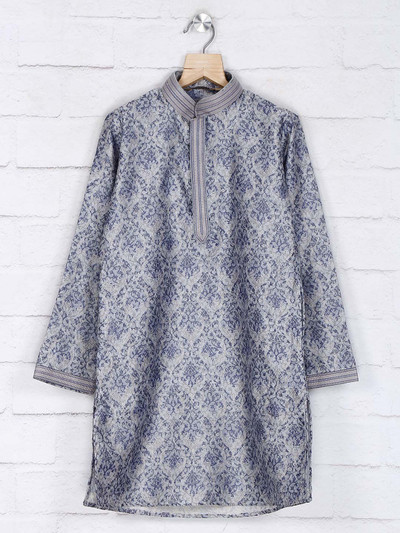 Cotton grey kurta suit