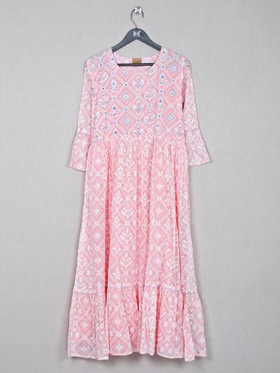 Cotton pink causal wear kurti