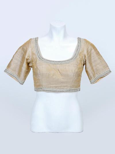 Cream readymade blouse for women