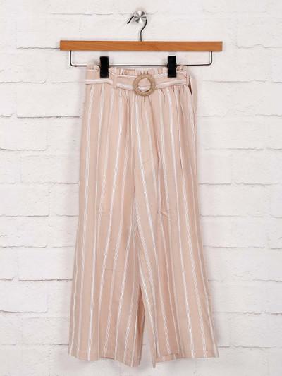 Deal cotton peach stripe palazzo