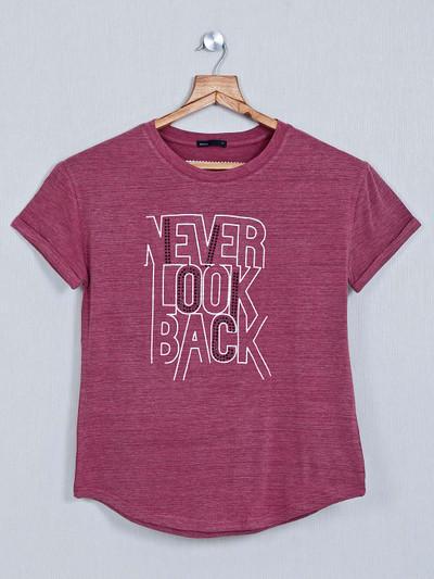 Deal purple cotton top for women