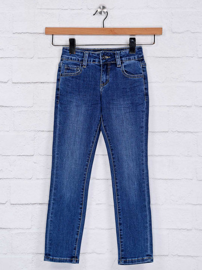Deal solid black casual jeans