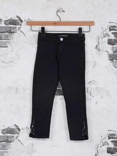 Deal solid black denim jeans