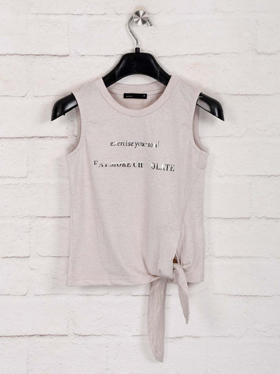 Deal solid peach casual wear top