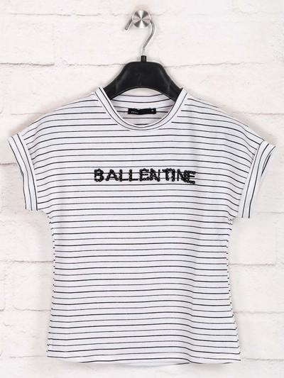 Deal stripe white cotton top