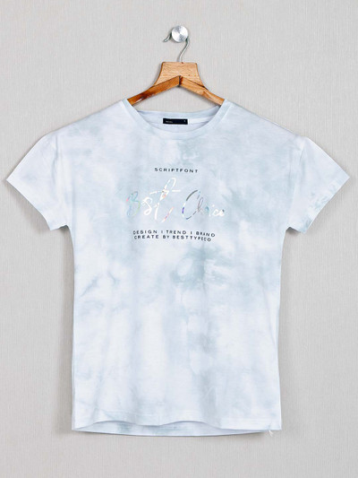 Deal white cotton printed top