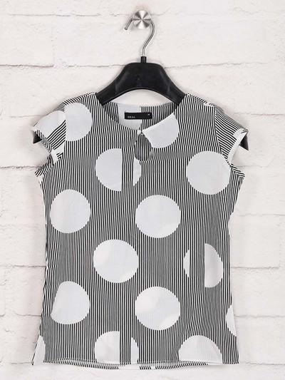 Deal white cotton stripe top