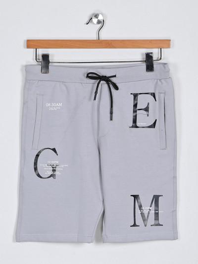 Deepee grey printed casual shorts