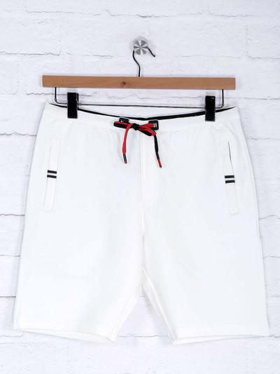Deepee white hue mens cotton shorts