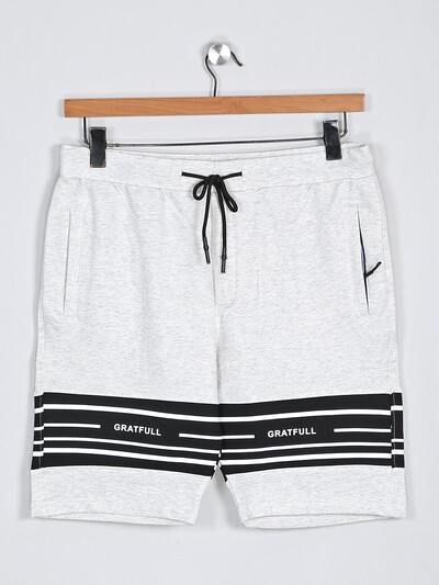 Deepee white printed cotton shorts