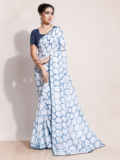 Designer printed saree in georgette