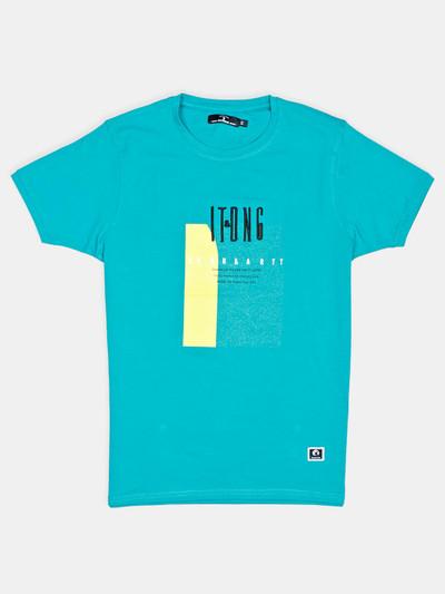 Disorder green printed cotton slim fit t-shirt