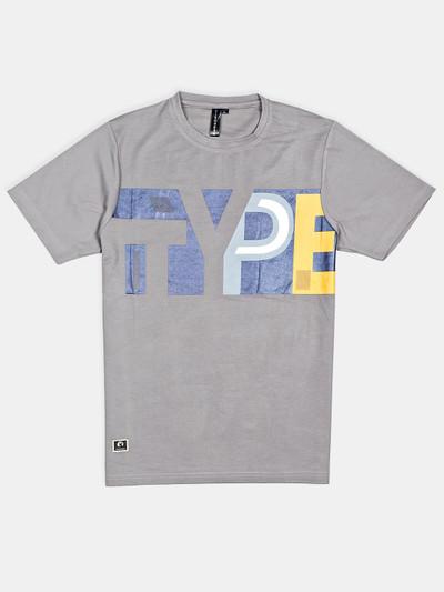 Disorder printed grey printed t-shirt