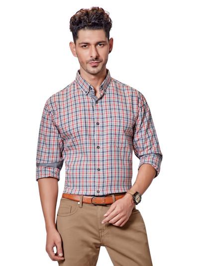 Dragon Hill red and blue checks shirt