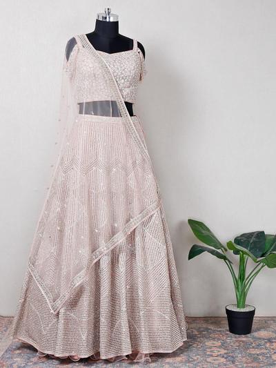 Elegant peach wedding wear womens lehenga choli