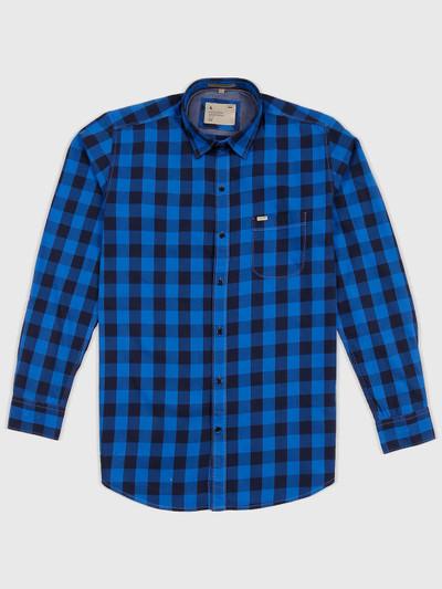 EQIQ presented royal blue checks shirt
