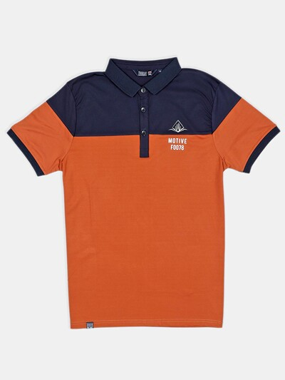 Freeze casual wear orange cotton polo t-shirt