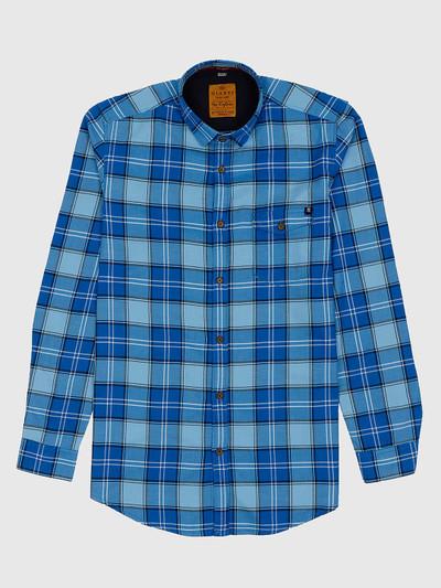 Gianti checks pattern blue hue casual shirt