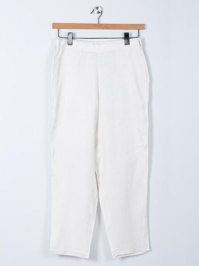 Global Desi white linen palazzo for women