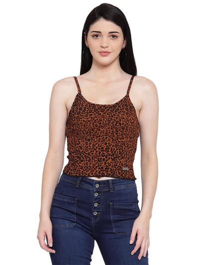 Global Republic latest brown crepe casual wear top