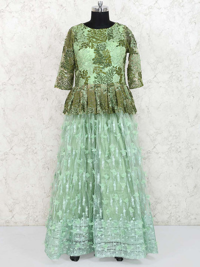 Gorgeous green party gown