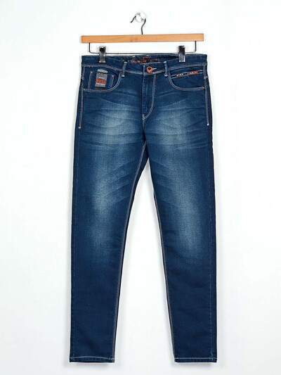GS78 blue washed effect jeans