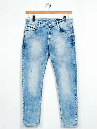 GS78  blue washed mens denim jeans