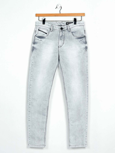 GS78 grey washed denim jeans for mens