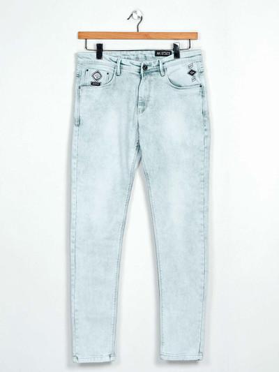 GS78 washed light blue denim jeans for mens