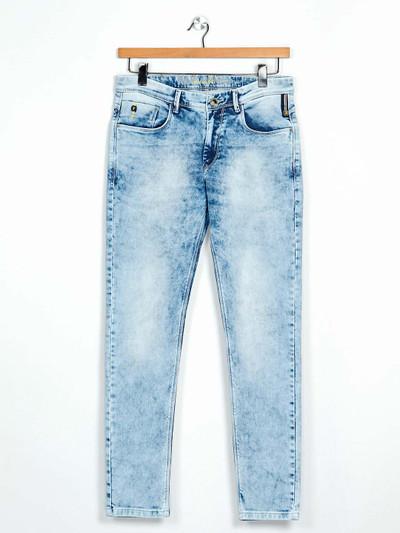 GS78 washed light blue denim slim fit jeans