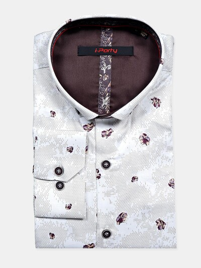 I Party cream color printed shirt