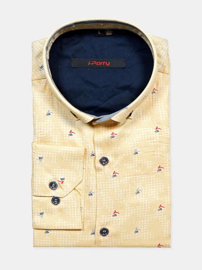 I Party sky blue hue printed shirt for mens