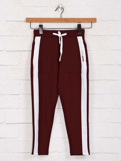 Jappkids maroon solid payjama