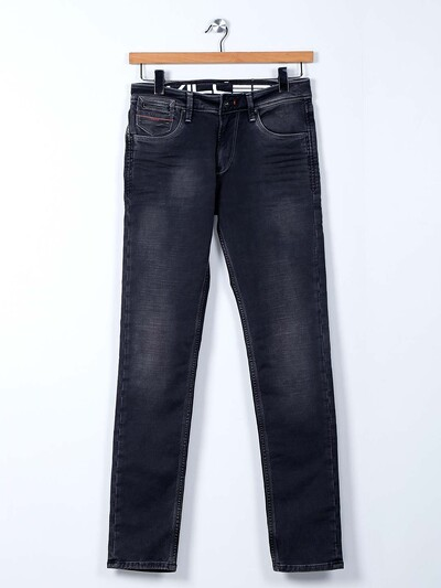 Killer black washed effect jeans